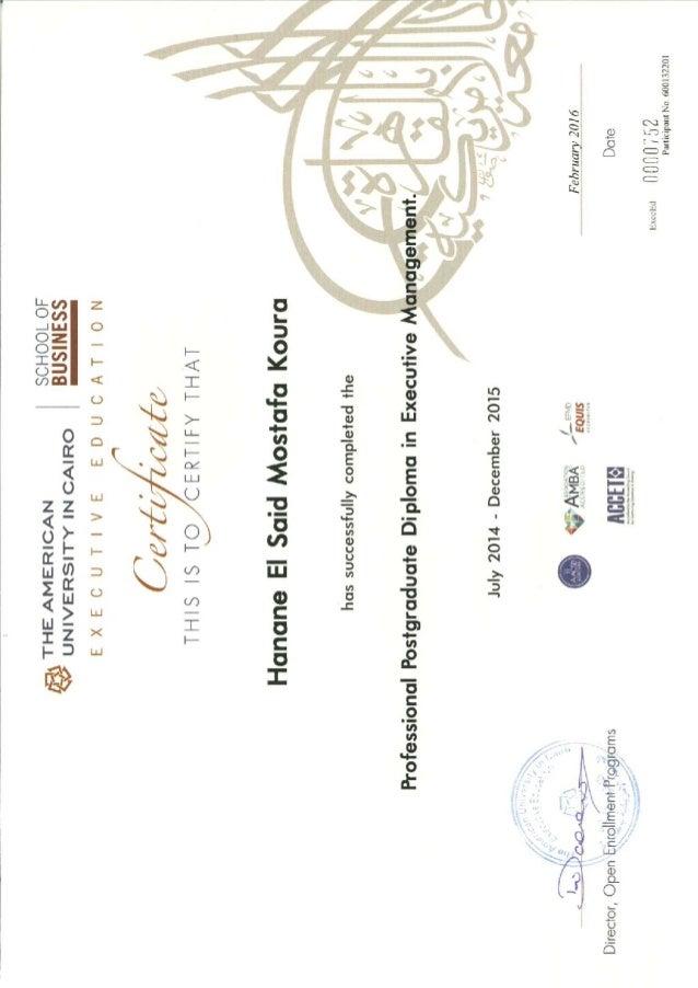 AUC Diploma
