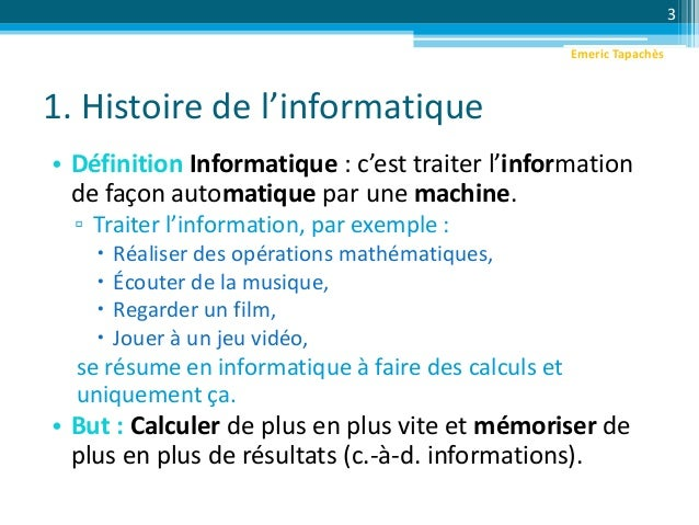 Intro programmation informatique for Definition architecture informatique