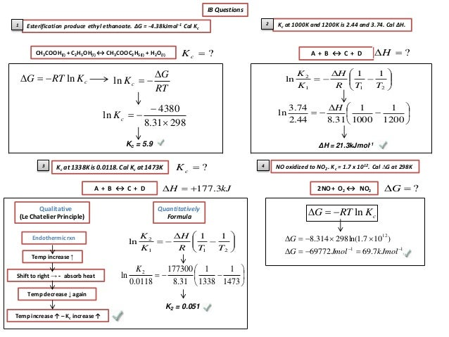 how to find equilibrium constant from gibbs free energy