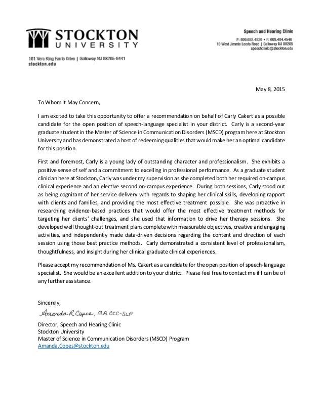 Carly cakert employment recommendation letter carly cakert employment recommendation letter may 8 2015 to whom it may concern i am excited to take this thecheapjerseys Choice Image