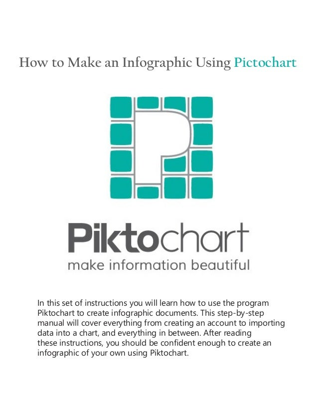 How to Make an Infographic Using Pictochart In this set of instructions you will learn how to use the program Piktochart t...