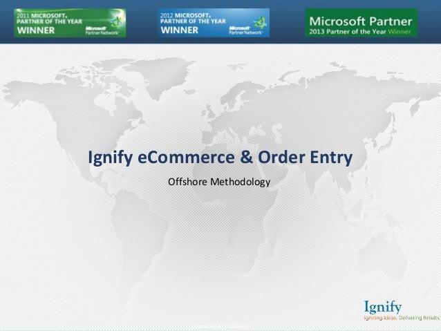 Ignify eCommerce methodology Slide 2
