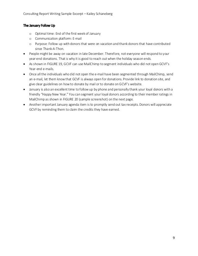 consulting writing sample