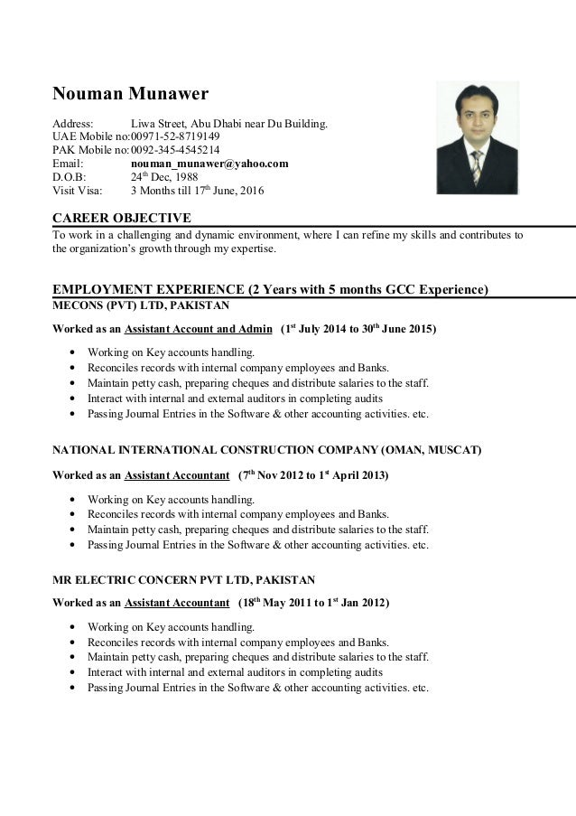 Junior Accountant CV (1)