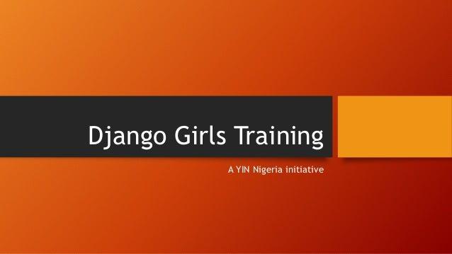 Django Girls Training A YIN Nigeria initiative
