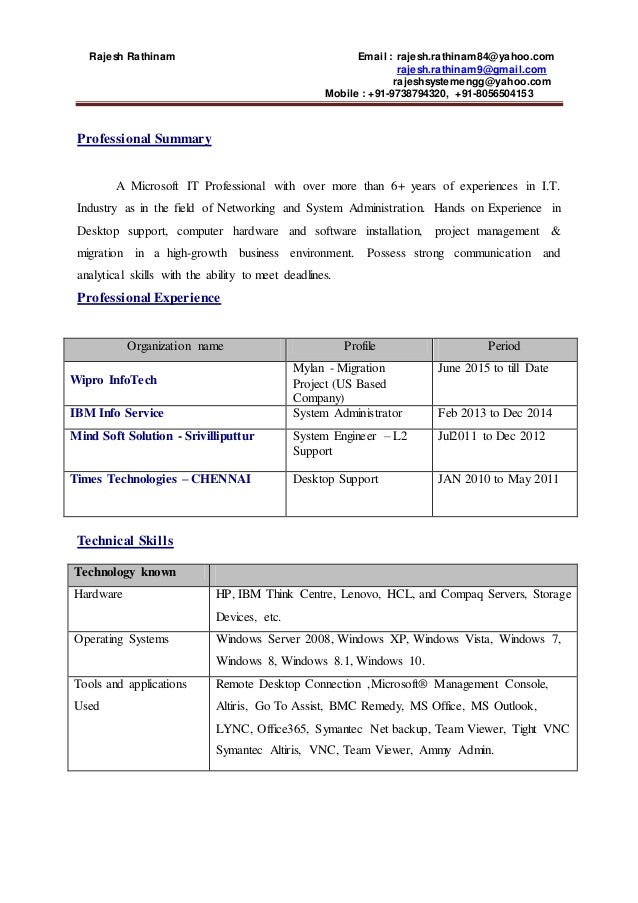 wipro resume