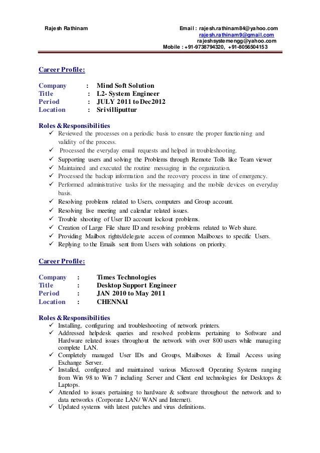Wipro resume format
