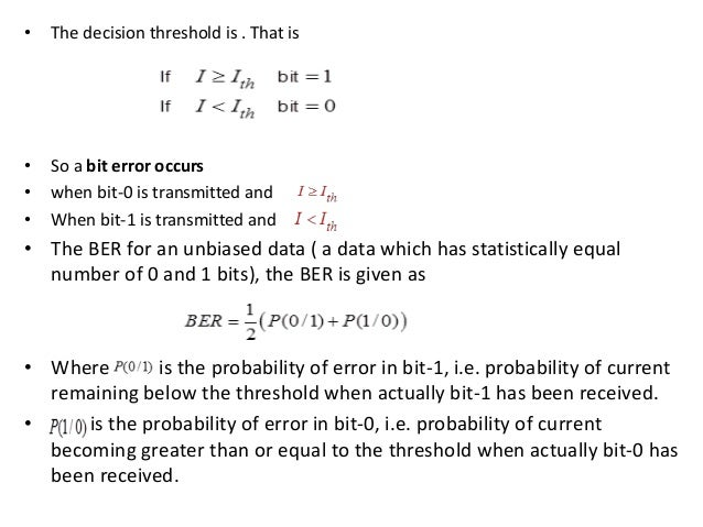 BIT Error Rate