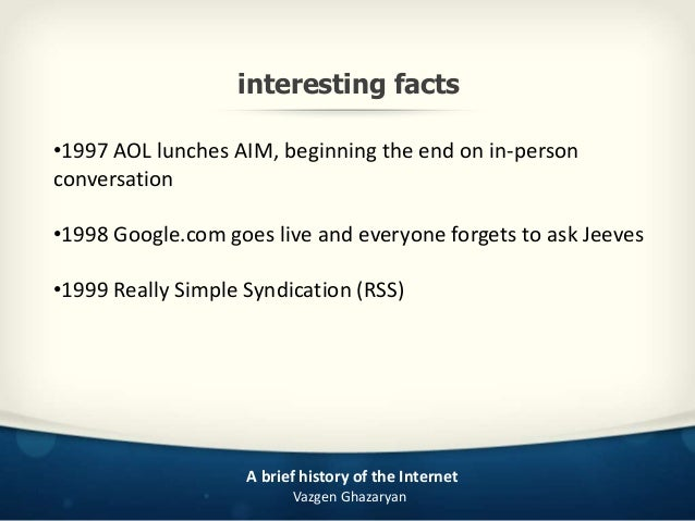 facts about the internet history