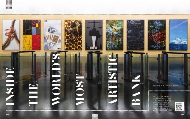 ILLUSTRATIONbypublinclaritempotiniumvidcesblah INSIDE THE WORLD'S MOST ARTISTIC BANK DEUTSCHE BANK'S LONDON HQ RIVALS THE ...