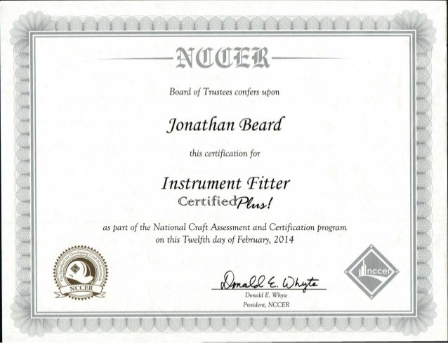 certification nccer fitter plus instrument certified slideshare upcoming