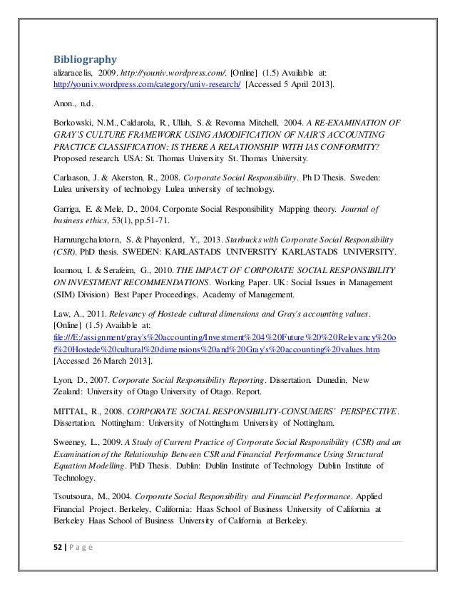 Phd thesis on csr