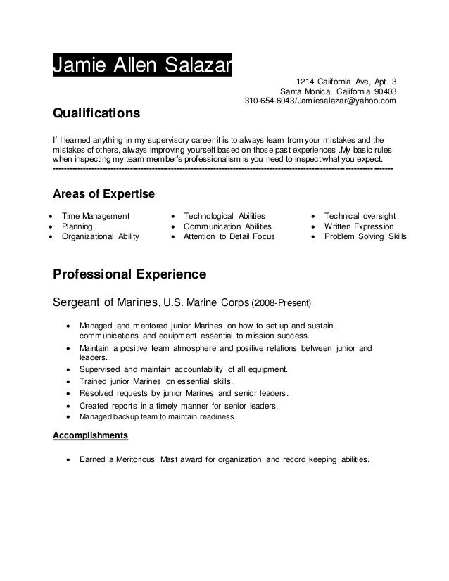 please refer to my resume