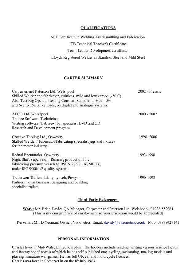 carpenter resume examples