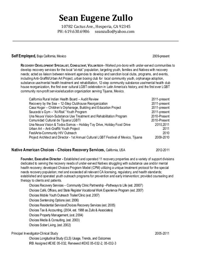 sz social service business resume recogs native amer involv 04 12 13