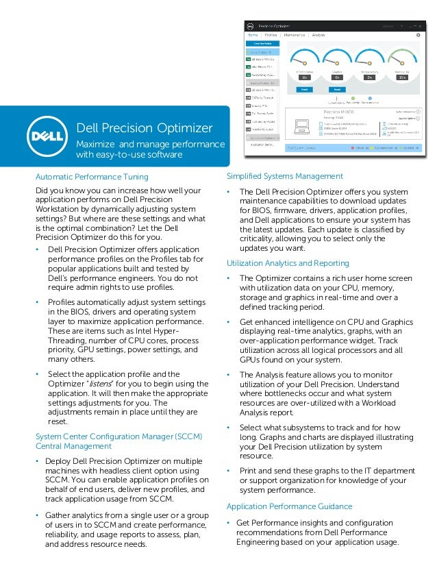 Automatic Performance Tuning Did you know you can increase how well your application performs on Dell Precision Workstatio...