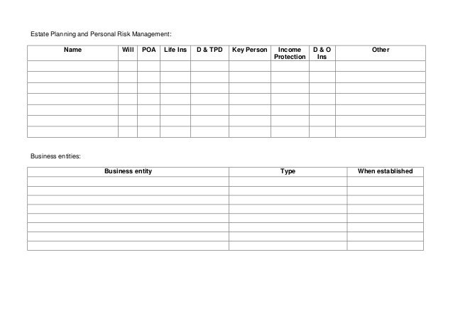 Succession Planning Information Template