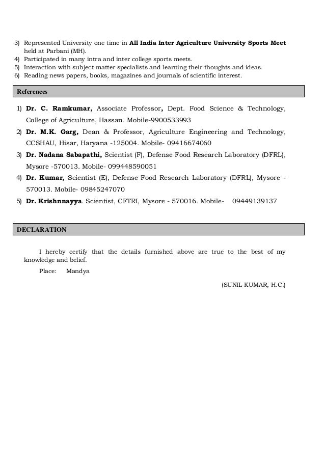4 - Agriculture Scientist Resume