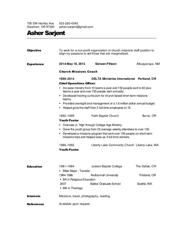 Missons pastor resume writing the analytical essay