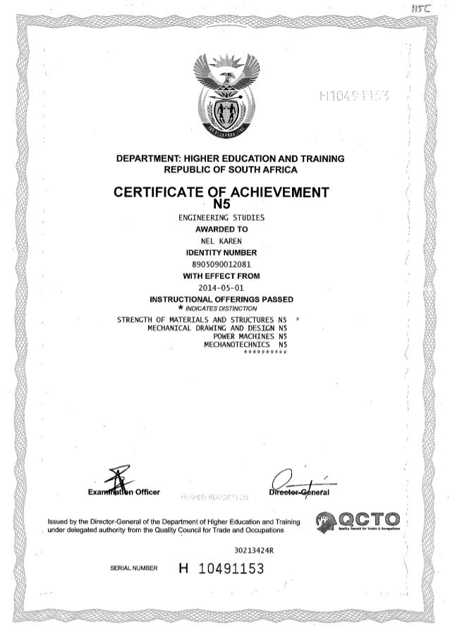 certificate mechanical engineering n5 slideshare upcoming