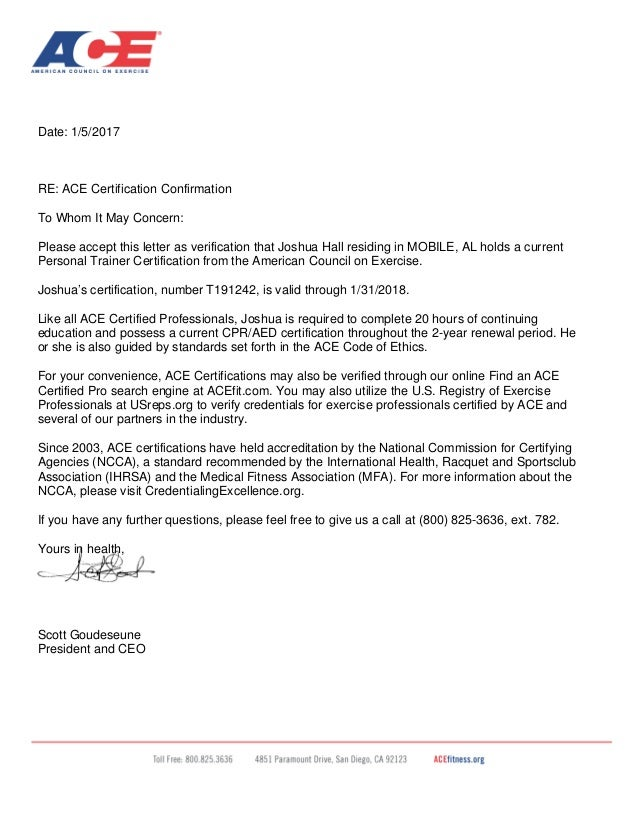 letter certification confirmation verification whom concern