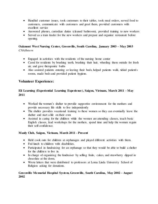 Hoa S Resume 2014