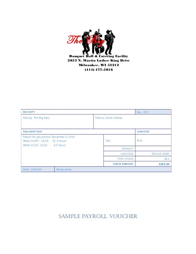 sample payroll voucher