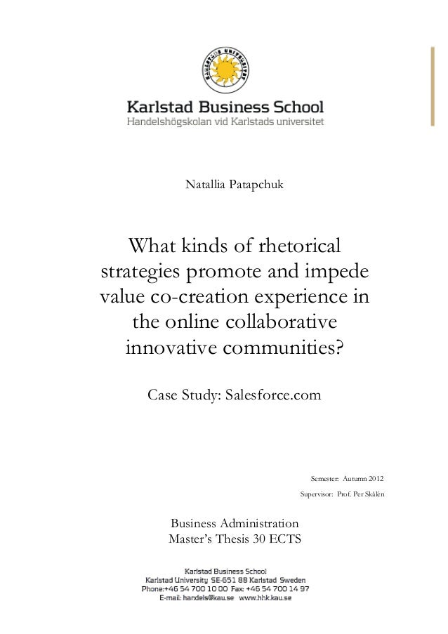 Master thesis of business administration