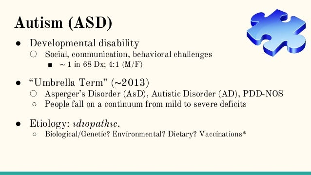 the etiology of intellectual disabilities and autism Rates of autism and intellectual disability have been linked to the incidence of malformations in male newborns, an indicator of possible exposure to environmental contaminants such as pesticides.