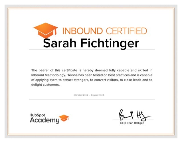 HubSpotAcademy_Certification