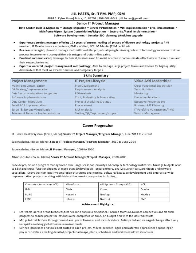 senior program manager resume sles visualcv resume