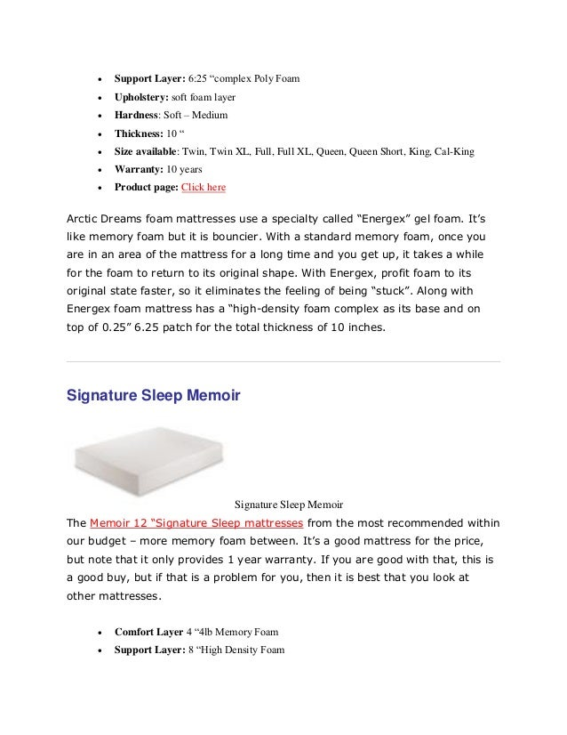 What To Look For In A Good Mattress top the best memory foam mattress