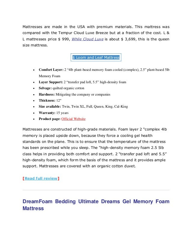 mattresses - Tempurpedic Mattress Cost