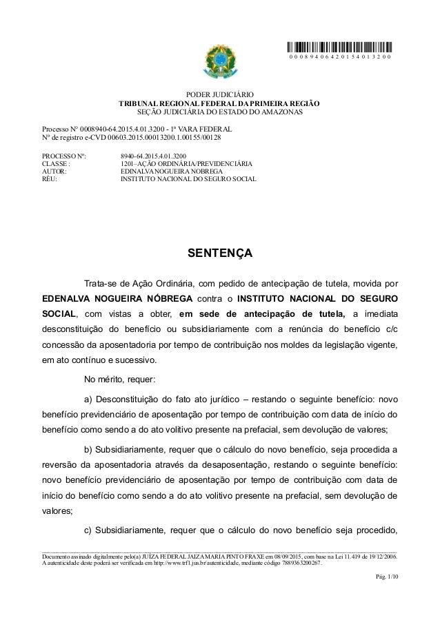0 0 0 8 9 4 0 6 4 2 0 1 5 4 0 1 3 2 0 0 PODER JUDICIÁRIO TRIBUNAL REGIONAL FEDERAL DA PRIMEIRA REGIÃO SEÇÃO JUDICIÁRIA DO ...