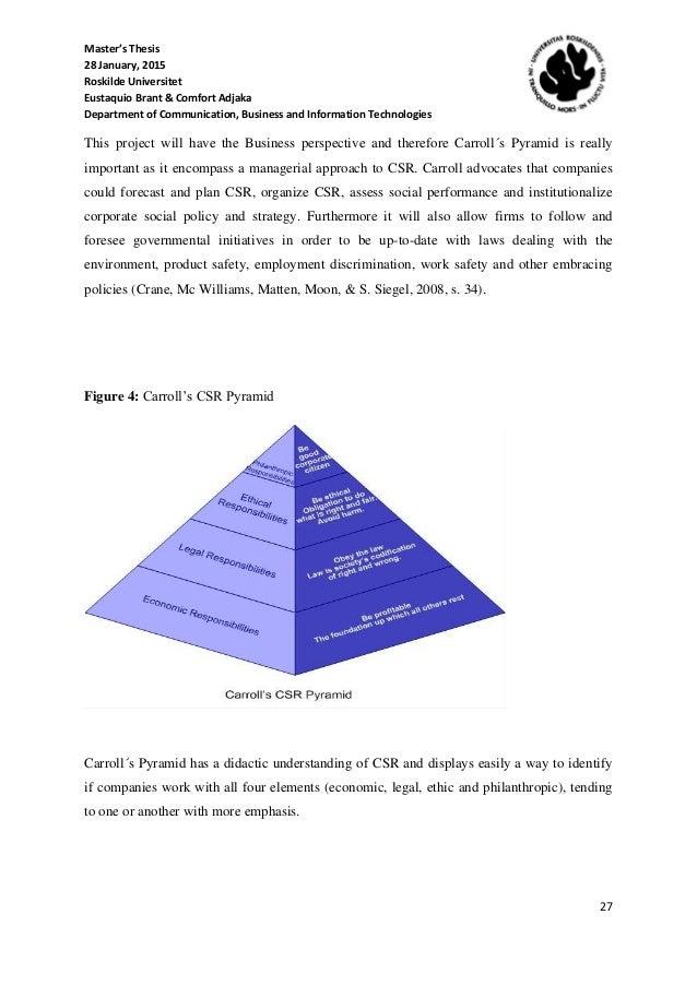 Master thesis csr