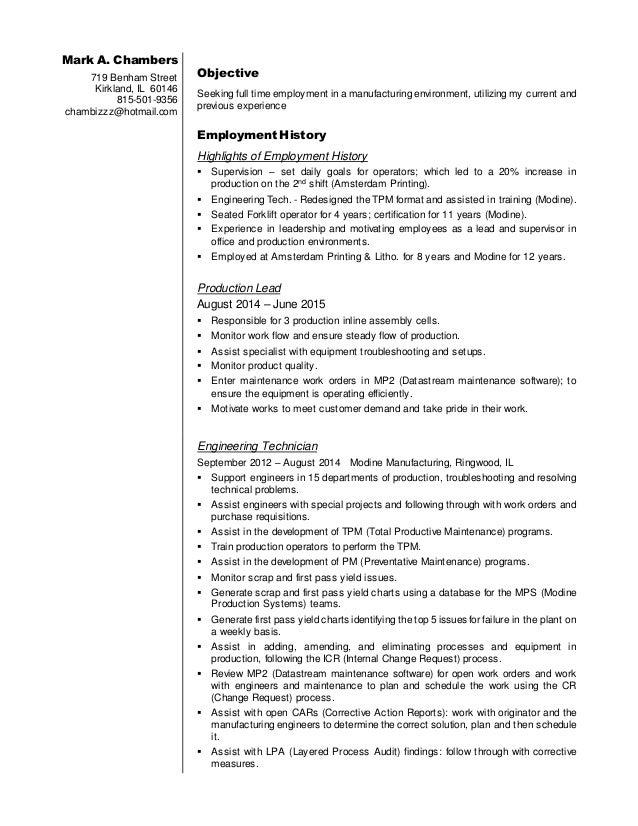 Seeking full time employment resume