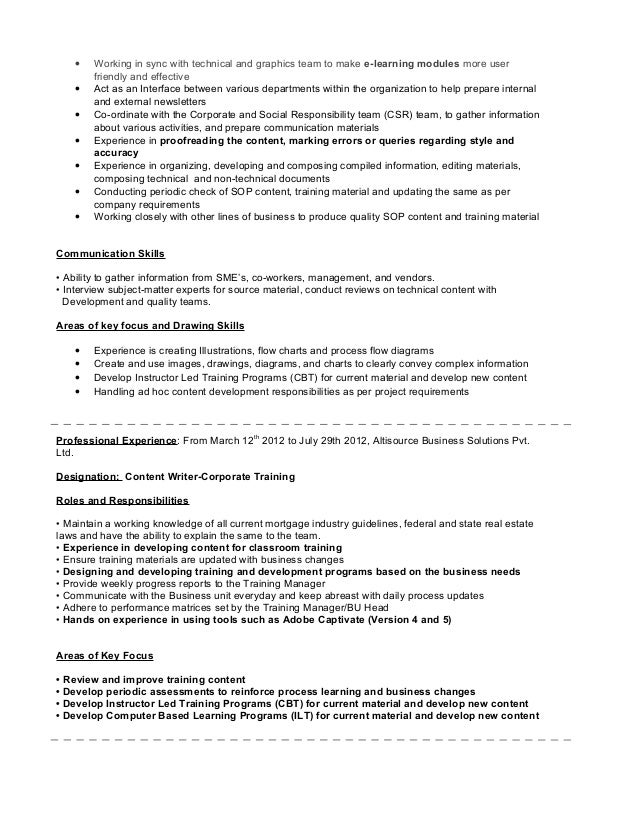 Resume Content old version old version old version Effective Content Creation 2