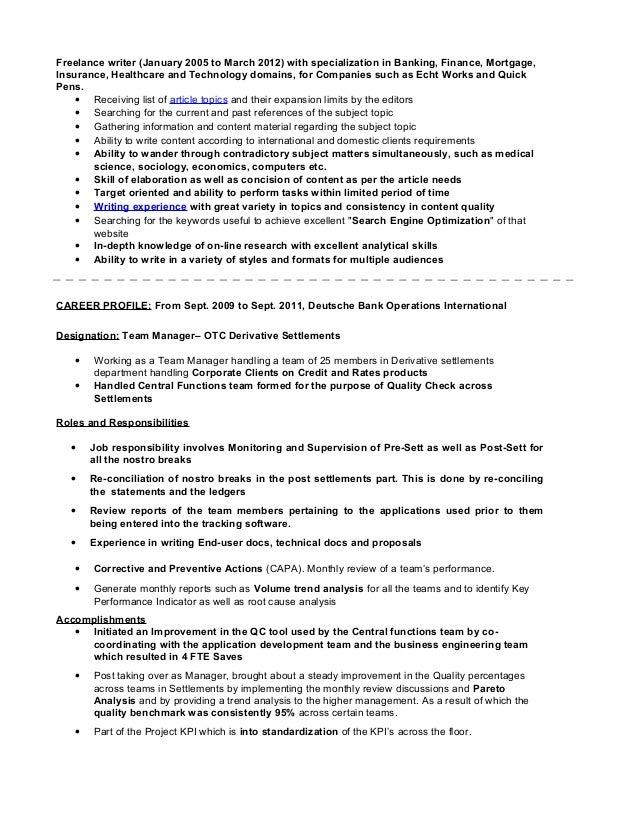 Resume- Karthik Shankar Content Writer