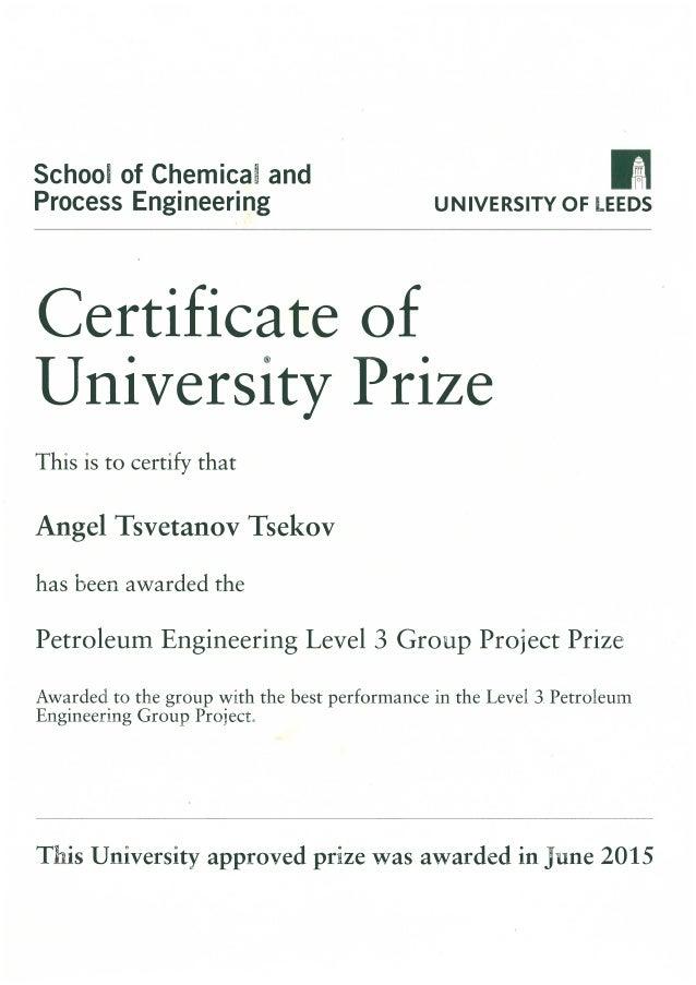 Univeristy Of Leeds Certificate Angel Tsekov