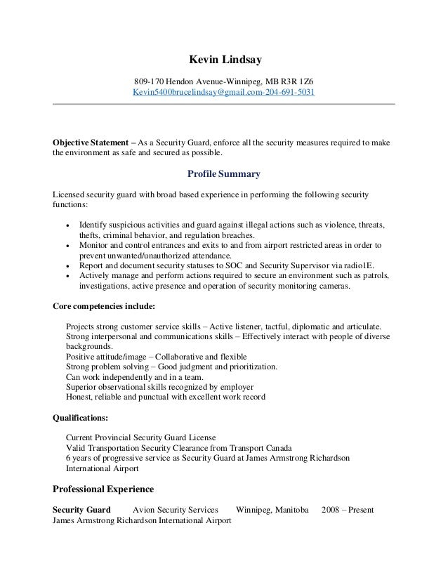 best security guard resume sle 2016 sles 2017 it