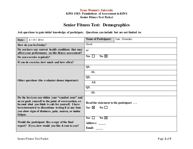 Senior Test