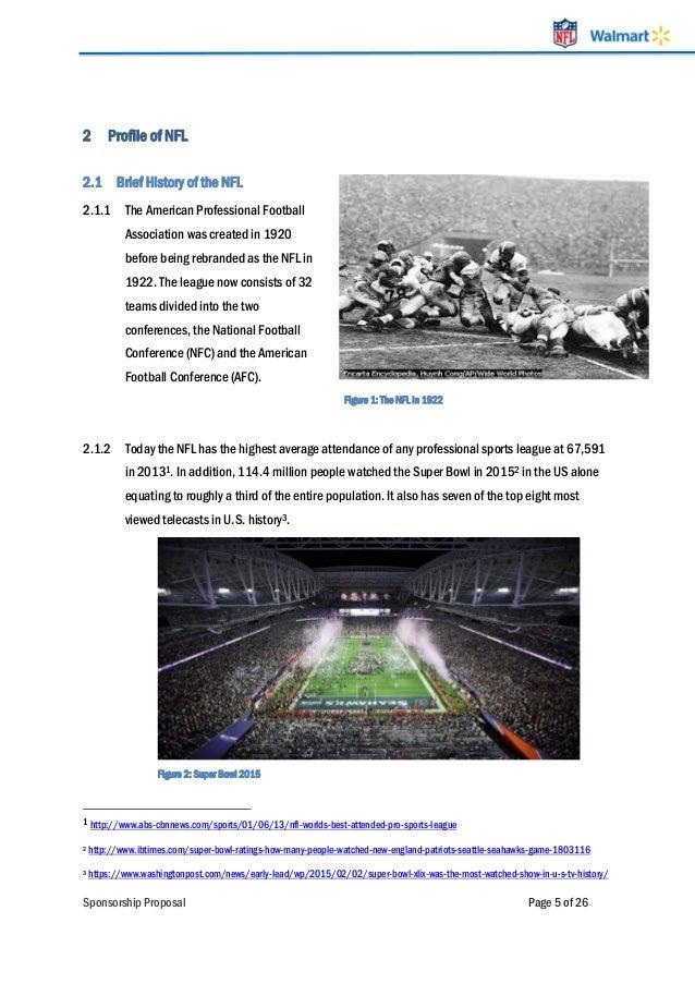 NFL sponsorship proposal LinkeIn