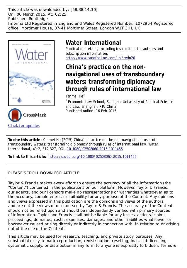 water diplomacy PDF
