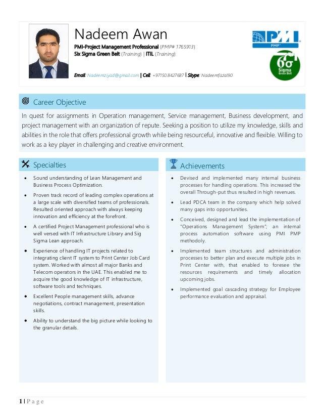 Nadeem Awan Resume