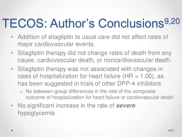 Effect of Sitagliptin on Cardiovascular Outcomes in Type 2 ...