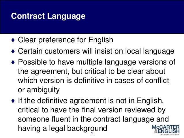 International Sales Agreements