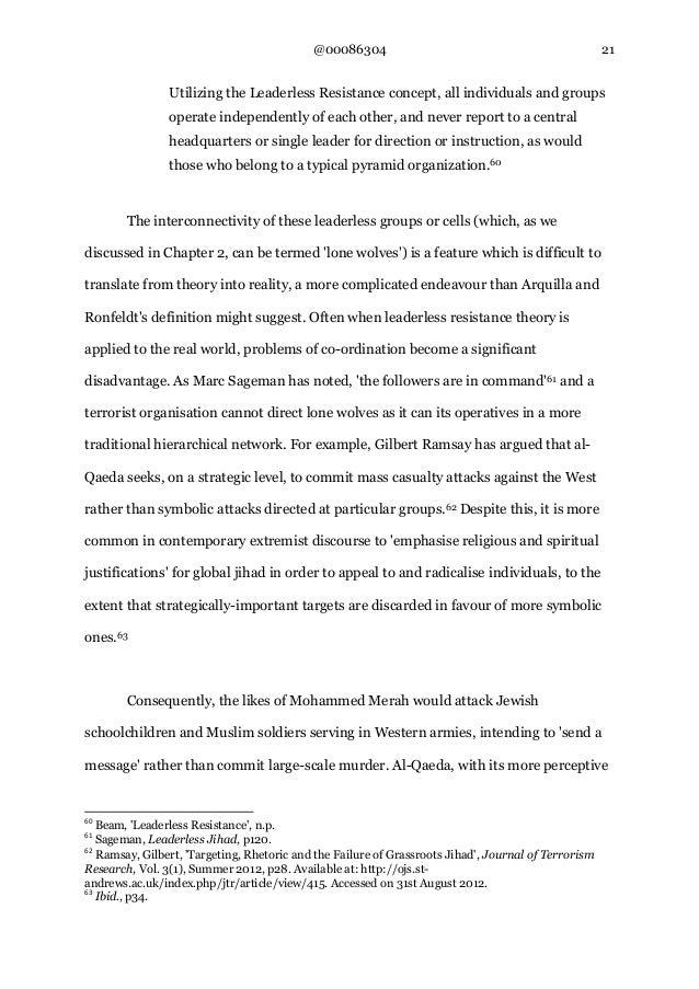 Y4 S3 Postgraduate Dissertation Crying Wolf Lone Terrorists An
