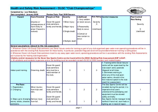 Dlgc Risk Assessments