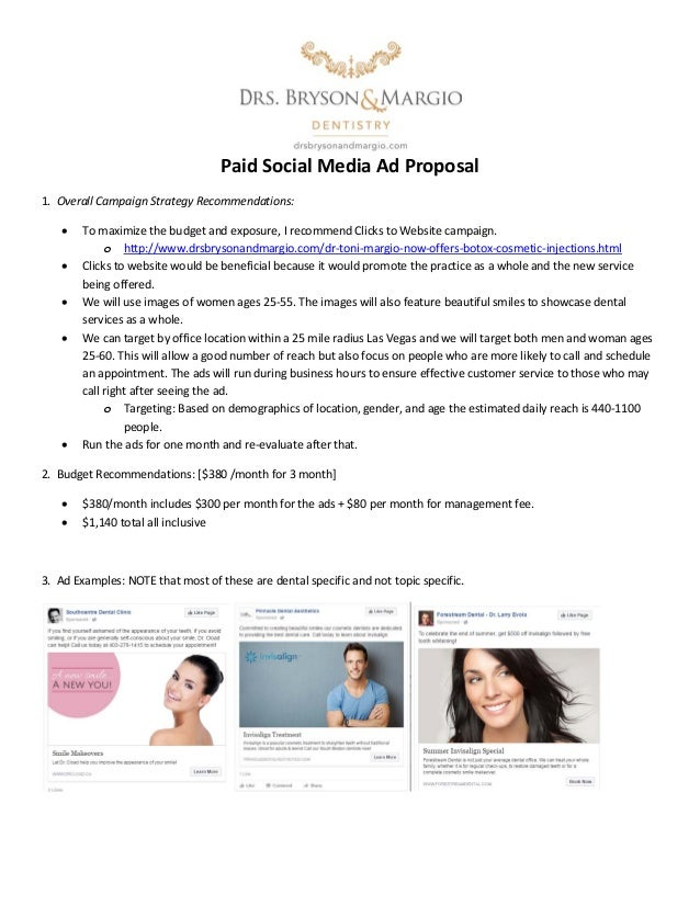paid social media ad proposal 1 overall campaign strategy recommendations to maximize the