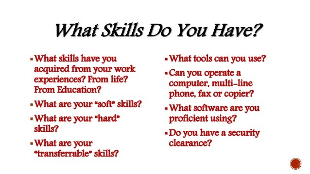 what are your skills